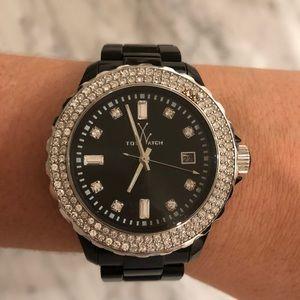 Crystal Black Toy Watch